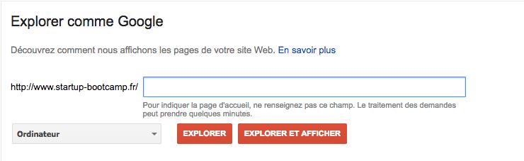 Soumettre une URL à Google pour indexation