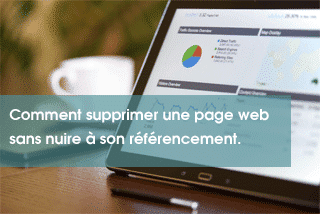 Comment supprimer une page web sans nuire à son référencement