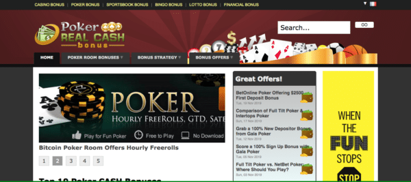Poker site d'affiliation de niche