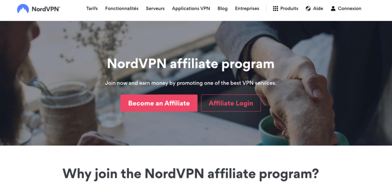nord vpn programme affiliation